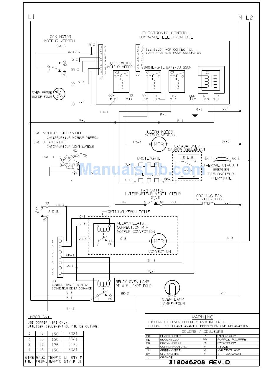 FRIGIDAIRE OVEN WIRING DIAGRAM Pdf Download | ManualsLibManualsLib