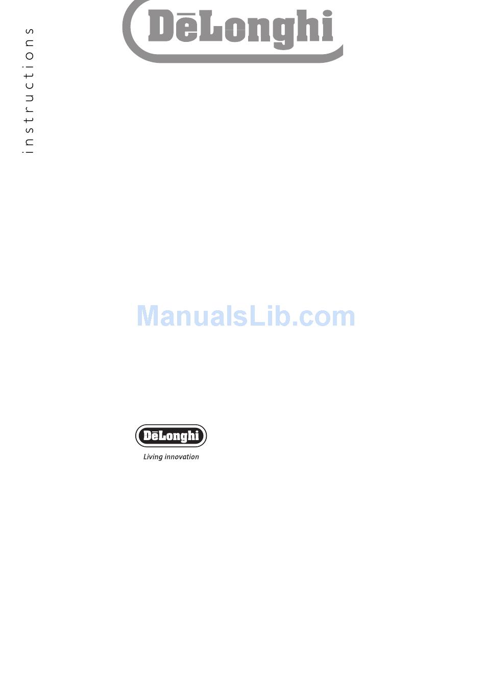Delonghi Radia R 030715 Instructions Manual Pdf Download Manualslib