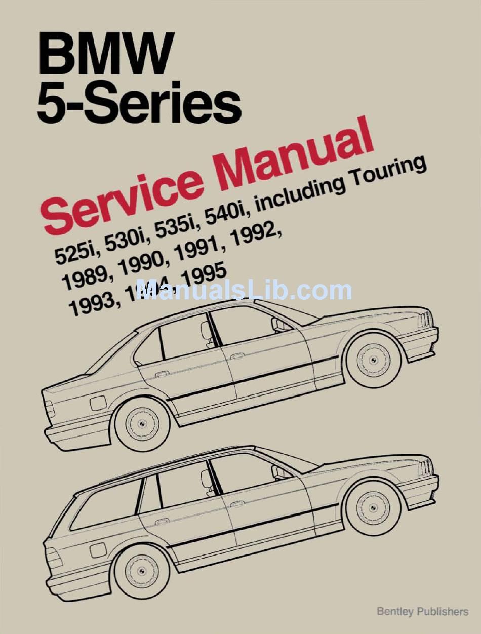 BMW 1989-1995 525I SERVICE MANUAL Pdf Download   ManualsLibManualsLib