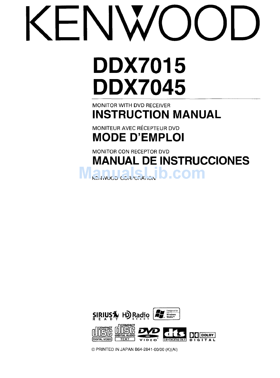Kenwood Ddx7017 Wiring Diagram from static-data2.manualslib.com