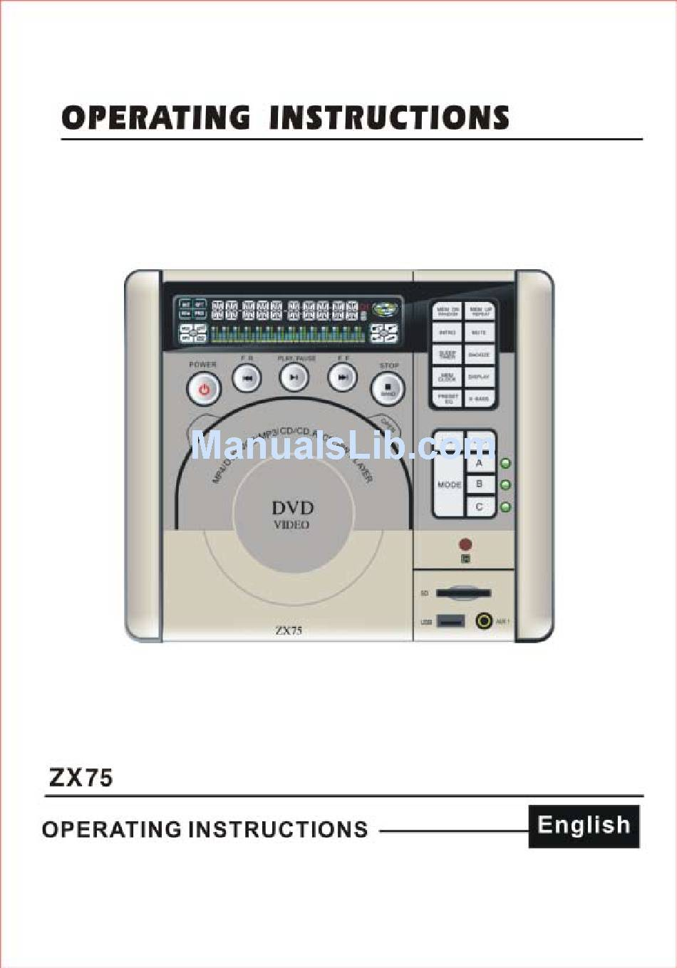 CONCERTONE ZX75 OPERATING INSTRUCTIONS MANUAL Pdf Download | ManualsLibManualsLib