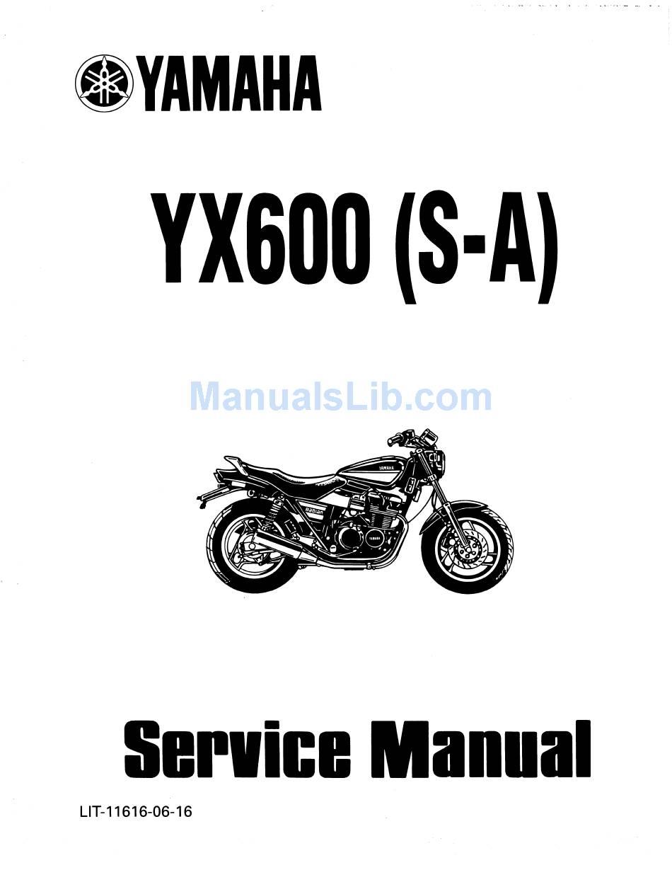 YAMAHA YX600 SERVICE MANUAL Pdf Download | ManualsLibManualsLib