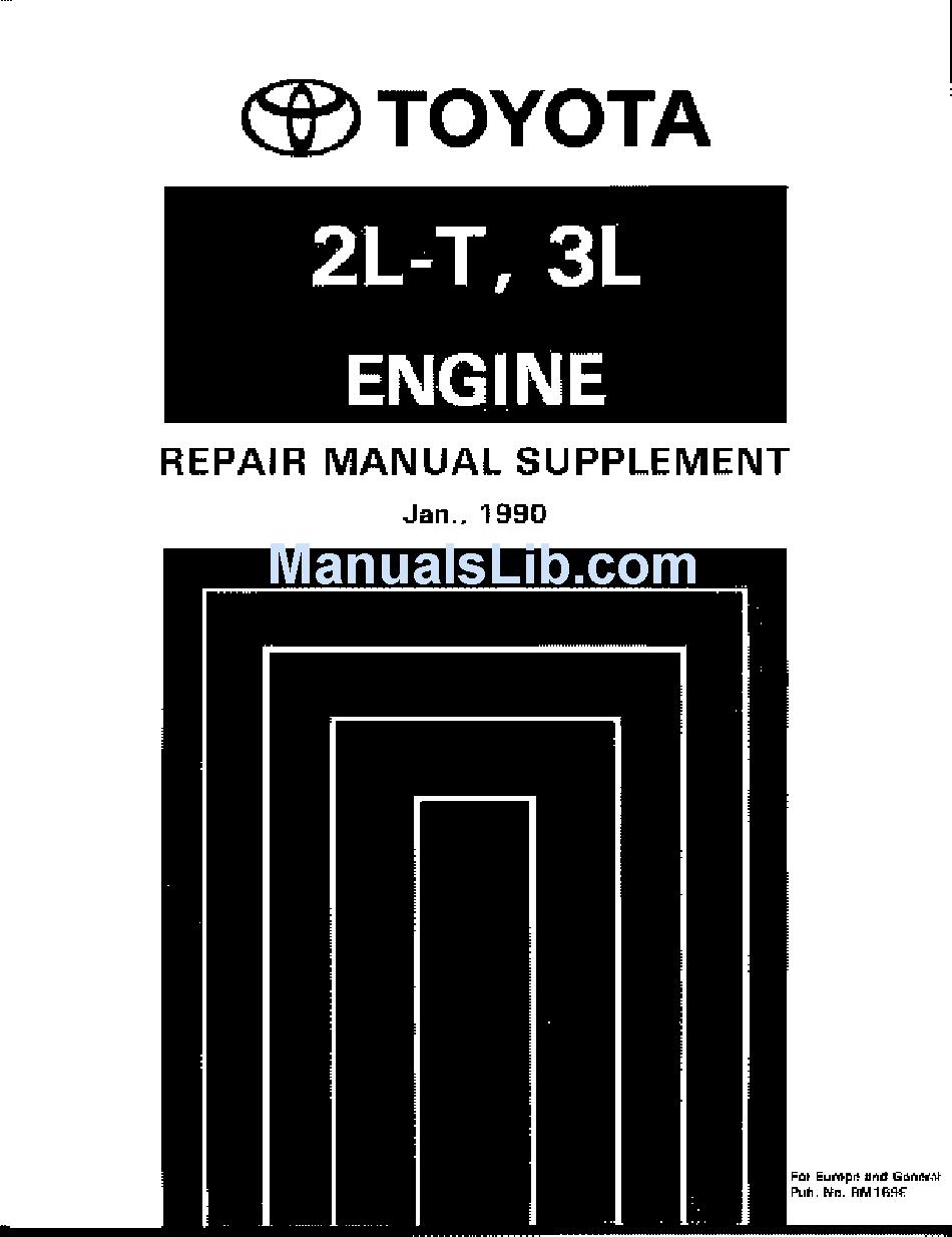 TOYOTA 2L-T REPAIR MANUAL Pdf Download | ManualsLibManualsLib