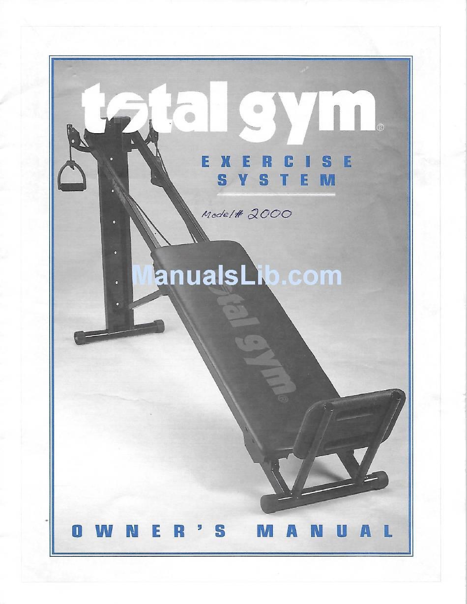 Total Gym 1500 Owner/'s Manual