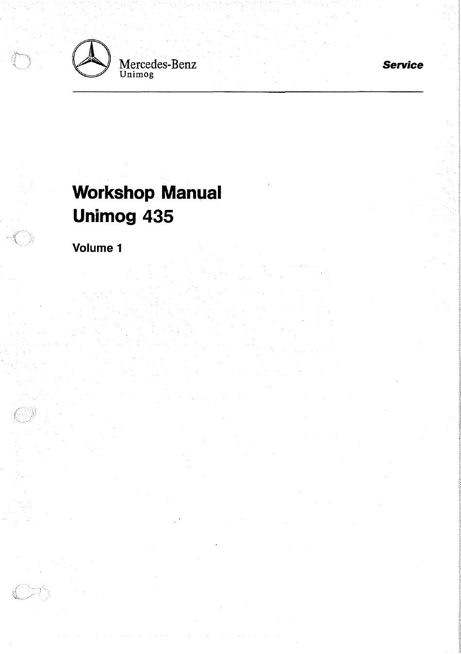 UNIMOG manuale di istruzioni Unimog 437-12.88