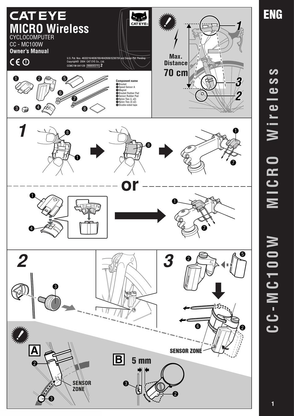 Cateye vectra cc 7000 user manual