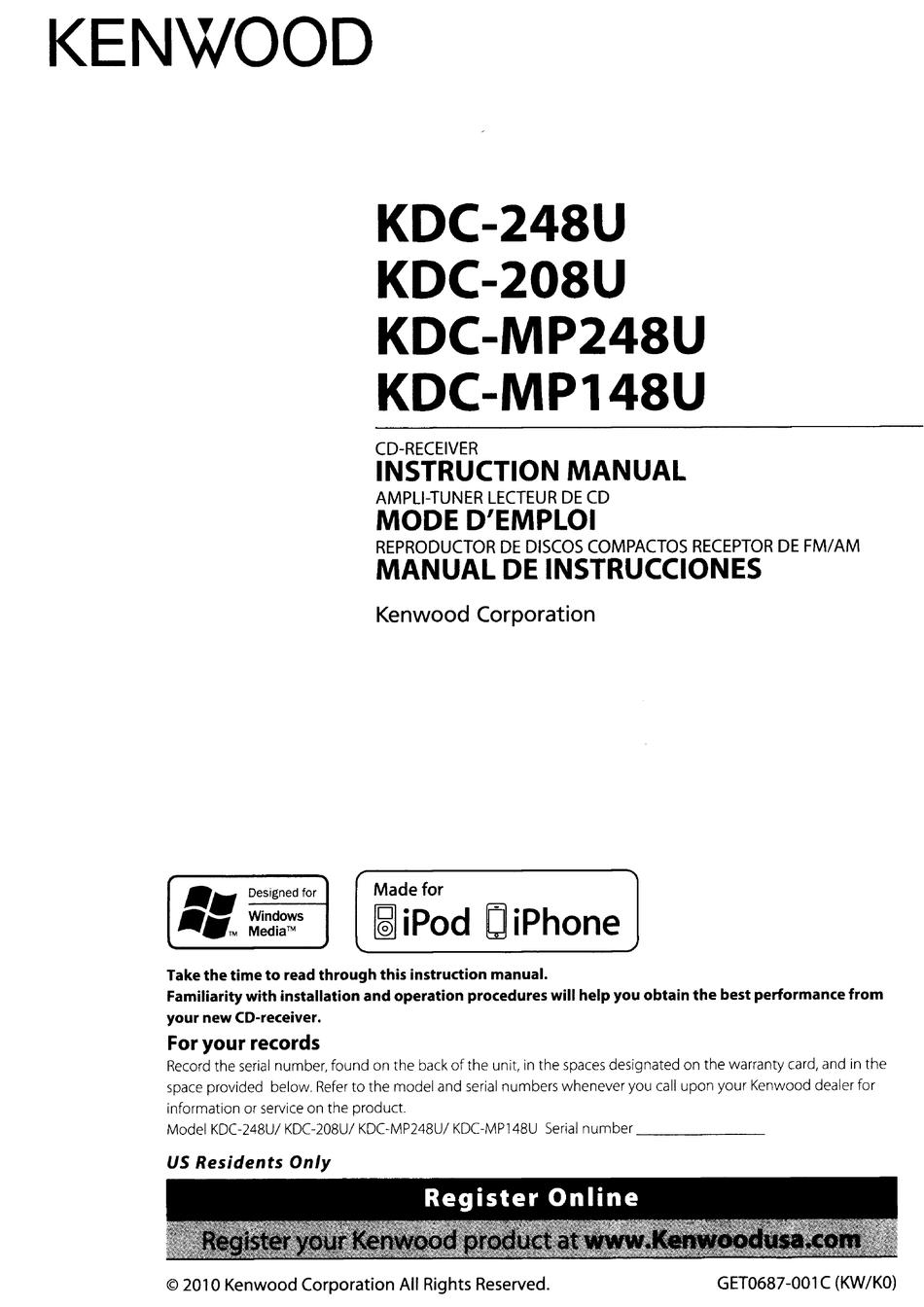 Kenwood Kdc-248U Wiring Diagram from static-data2.manualslib.com