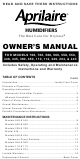 Aprilaire 112 Owner's Manual
