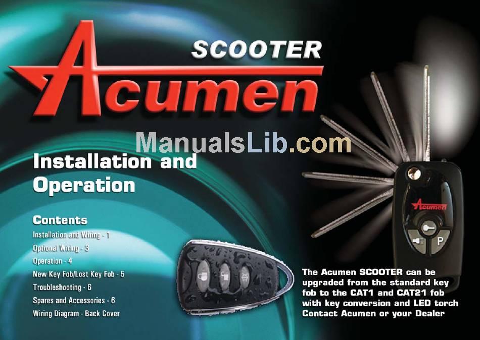 ACUMEN 51020 INSTALLATION AND OPERATION MANUAL Pdf Download | ManualsLibManualsLib