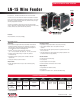 Lincoln Electric LN-15 Specification Sheet