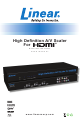 Linear High Definition A/V Scaler for HDMI SCALER-2-1080P User Manual