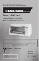 Black & Decker Toast-R-Oven TRO420 Use And Care Book Manual