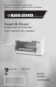 Black & Decker Toast-R-Oven TRO420C Use And Care Book Manual