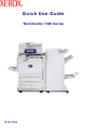 Xerox WorkCentre 7300 Series Quick Use Manual