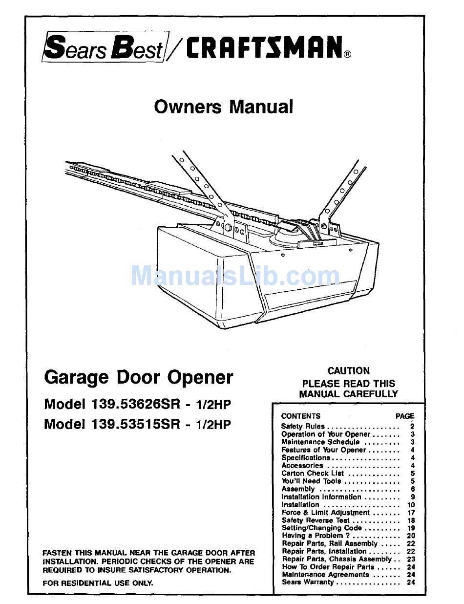 Craftsman 139 53515sr I 2hp Owner S Manual Pdf Download Manualslib