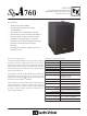 Electro-Voice SbA760 Technical Specifications