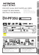 Hitachi DV-PF35U Instruction Manual