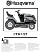 Husqvarna LTH152 Instruction Manual