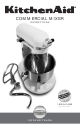 KitchenAid COMMERCIAL MIXER Instructions Manual
