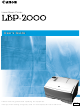 Canon LBP-2000 User Manual