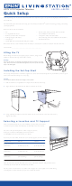 Epson Livingstation LS47P2 Quick Setup Manual