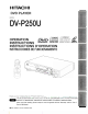 Hitachi DV-P250U Operating Instructions Manual