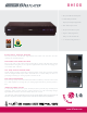 LG BH100 Specification Sheet