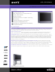 Sony FD Trinitron WEGA KD-32XS945 Specifications