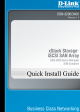 D-Link DSN-3200-20 - Xstack 8X1GBE Iscsi San Array 15 Bays 3U Quick Installation Manual