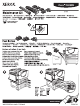 Xerox 5500DN - Phaser B/W Laser Printer Instruction Sheet