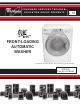 Whirlpool HE2t - 3.7 cu. Ft. Front Load Washer User Manual