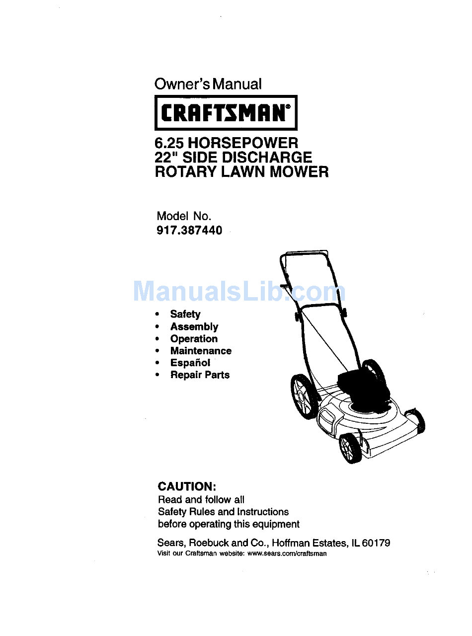 Craftsman 917 387440 Owner U0026 39 S Manual Pdf Download