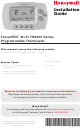 Honeywell FocusPRO Wi-Fi TH6000 Series Installation Manual