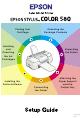 Epson STYLUS COLOR 580 Setup Manual