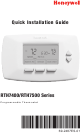 Honeywell YRTH7500D1009 - 5 Day Program Thermostat Quick Installation Manual
