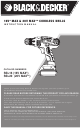 Black & Decker SSL16 Instruction Manual
