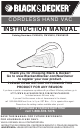 Black & Decker CHV9610 Instruction Manual