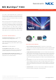 NEC MultiSync P403 Specifications