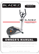BLADEZ Elliptical X-350p Owner's Manual