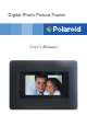 POLAROID DIGITAL PHOTO PICTURE FRAME User Manual