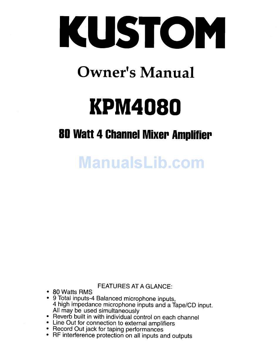 kpm 4080 amplifier wiring diagram