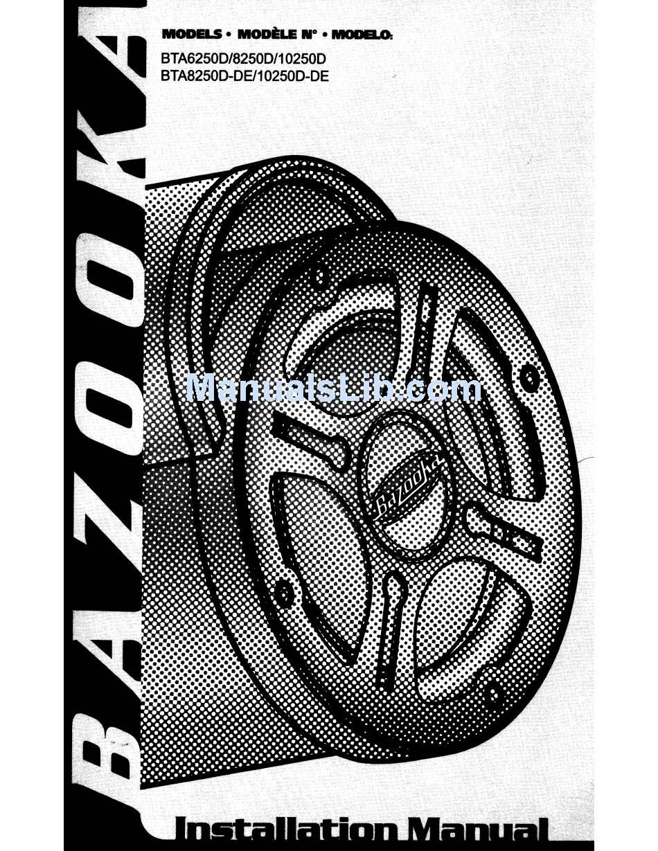 Bazooka Rs Wiring Diagram