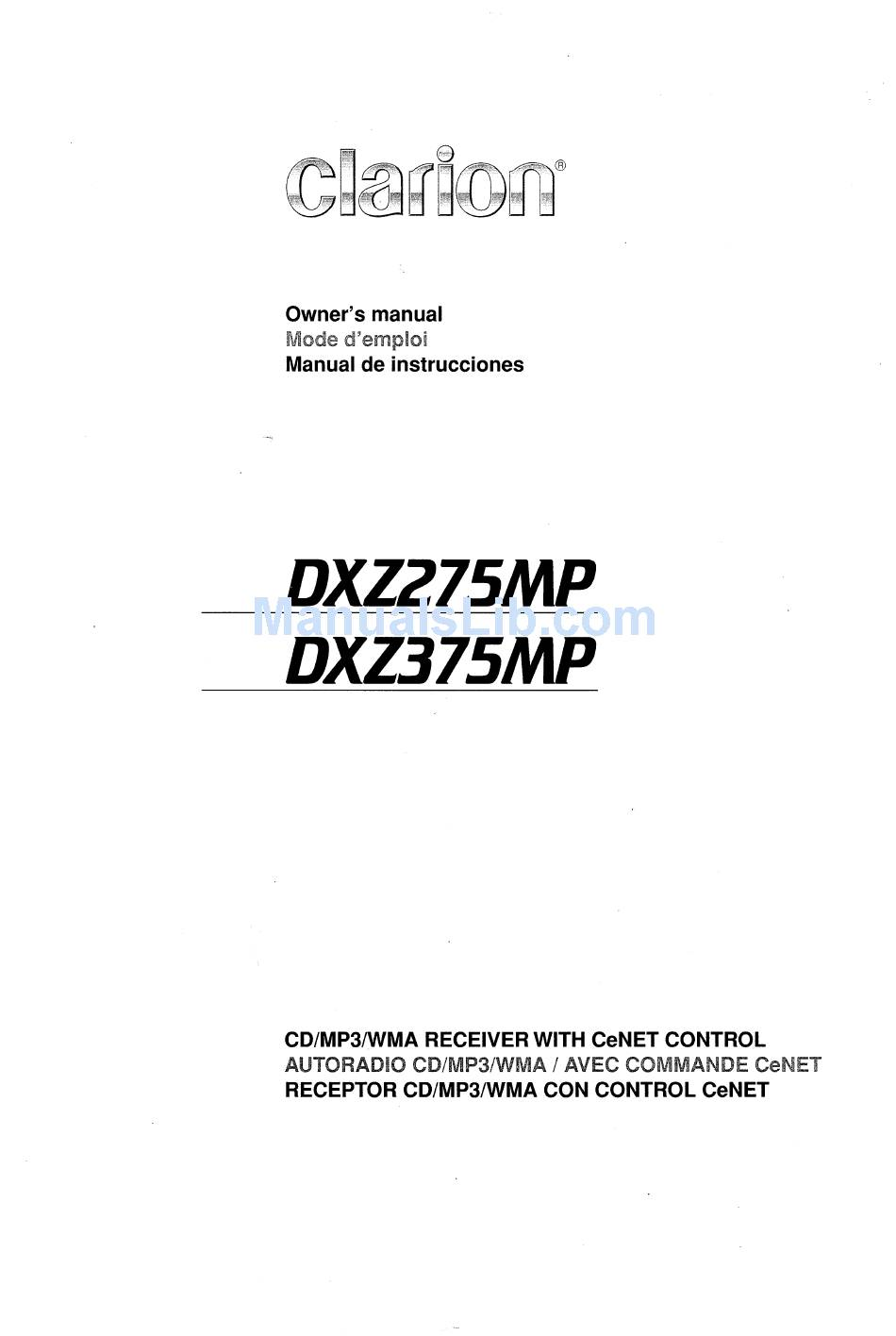 Wiring Diagram For Clarion Dxz375mp