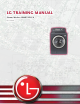 LG WM0742H Series Training Manual