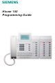 Siemens Hicom 150 Programming Manual