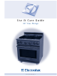 "Electrolux 30"" Gas Range Use & Care Manual"
