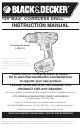 Black & Decker LDX112 Instruction Manual