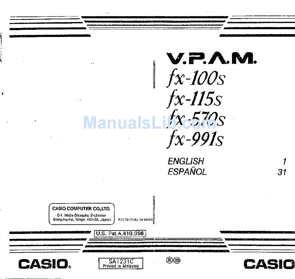 casio fx 991ex user manual pdf