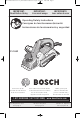 Bosch PL1682 Operating/Safety Instructions Manual
