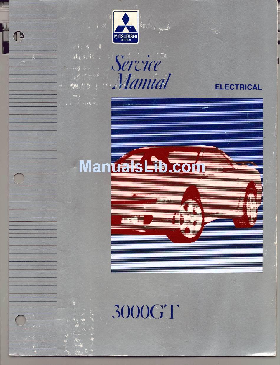 Wiring Diagram Mitsubishi 3000gt